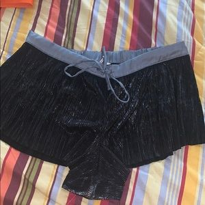 Black metallic sleep shorts size L